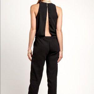 Sleek and Stylish Black Jumpsuit (Back Cut-out)